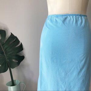 Gap • Blue & White Gingham Design Pencil Skirt